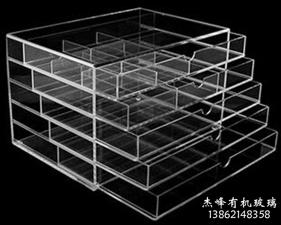 杰峰有机玻璃抽屉化妆品盒子