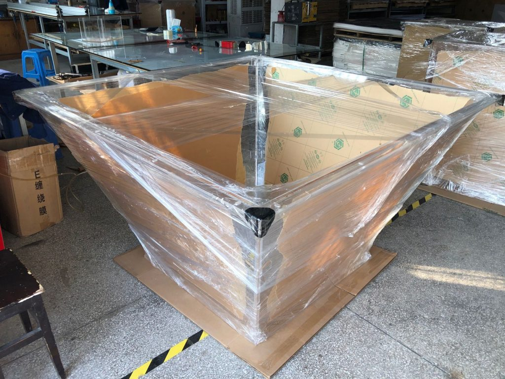 杰峰有机玻璃大型漏斗定制