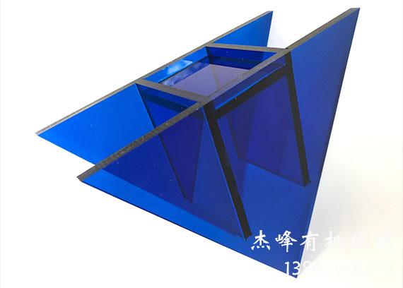 批发桌面摆件透明蓝有机玻璃花瓶